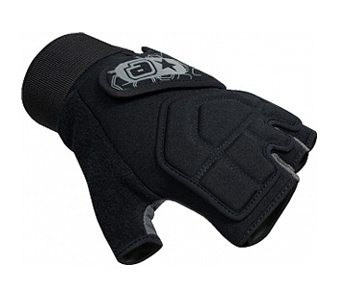 Перчатки пол пальца Planet Eclipse Gauntlet Paintball Gloves - Black